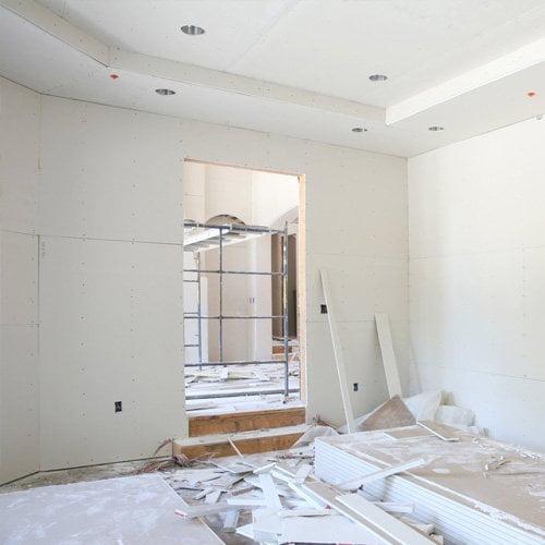 Комплексный ремонт квартиры - монтаж гипсокартонных конструкций