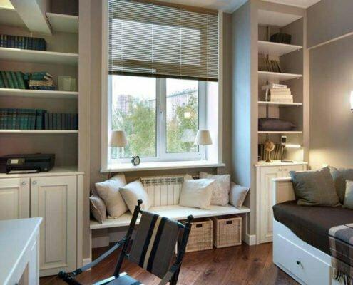 Планировка: Как обустроить узкую комнату с одним окном