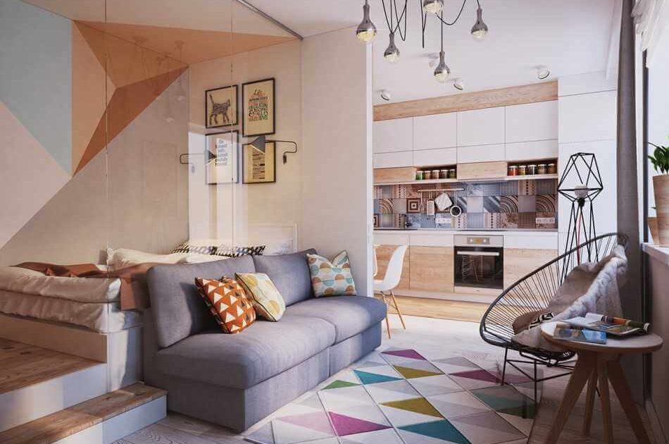 Дизайн однокомнатной квартиры минимализм