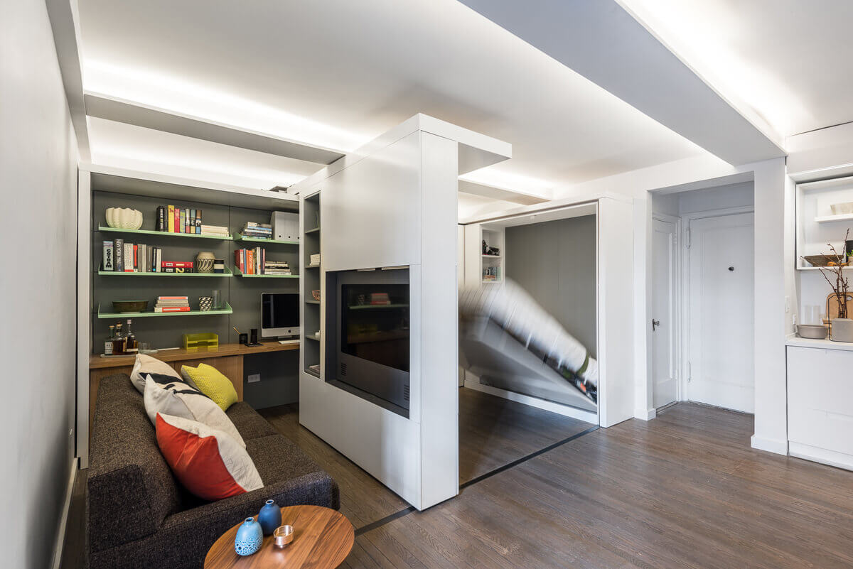 Функциональная мебель в однокомнатной квартире