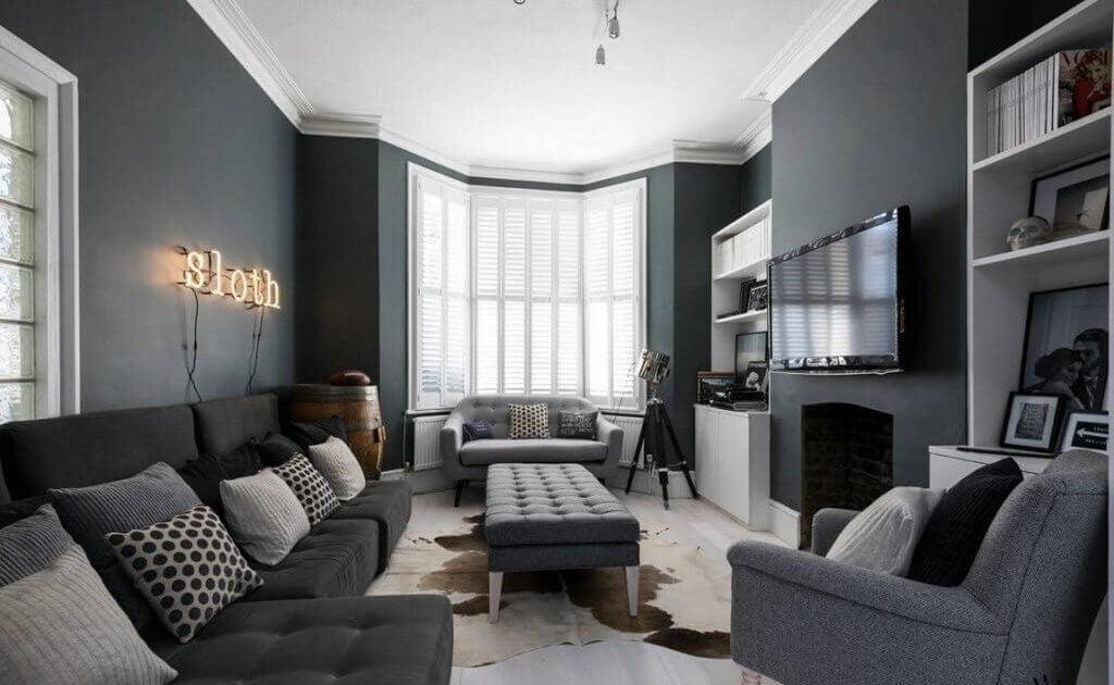 Темные цвета в оформлении дизайна однокомнатной квартиры